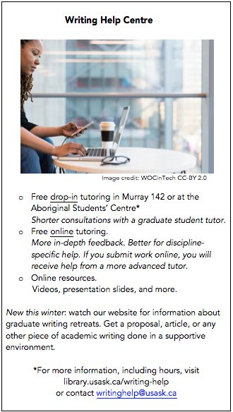 writing help for graduate students Advising students about writing courses getting help for your students teaching writing in your courses writing workshops for graduate students and faculty.
