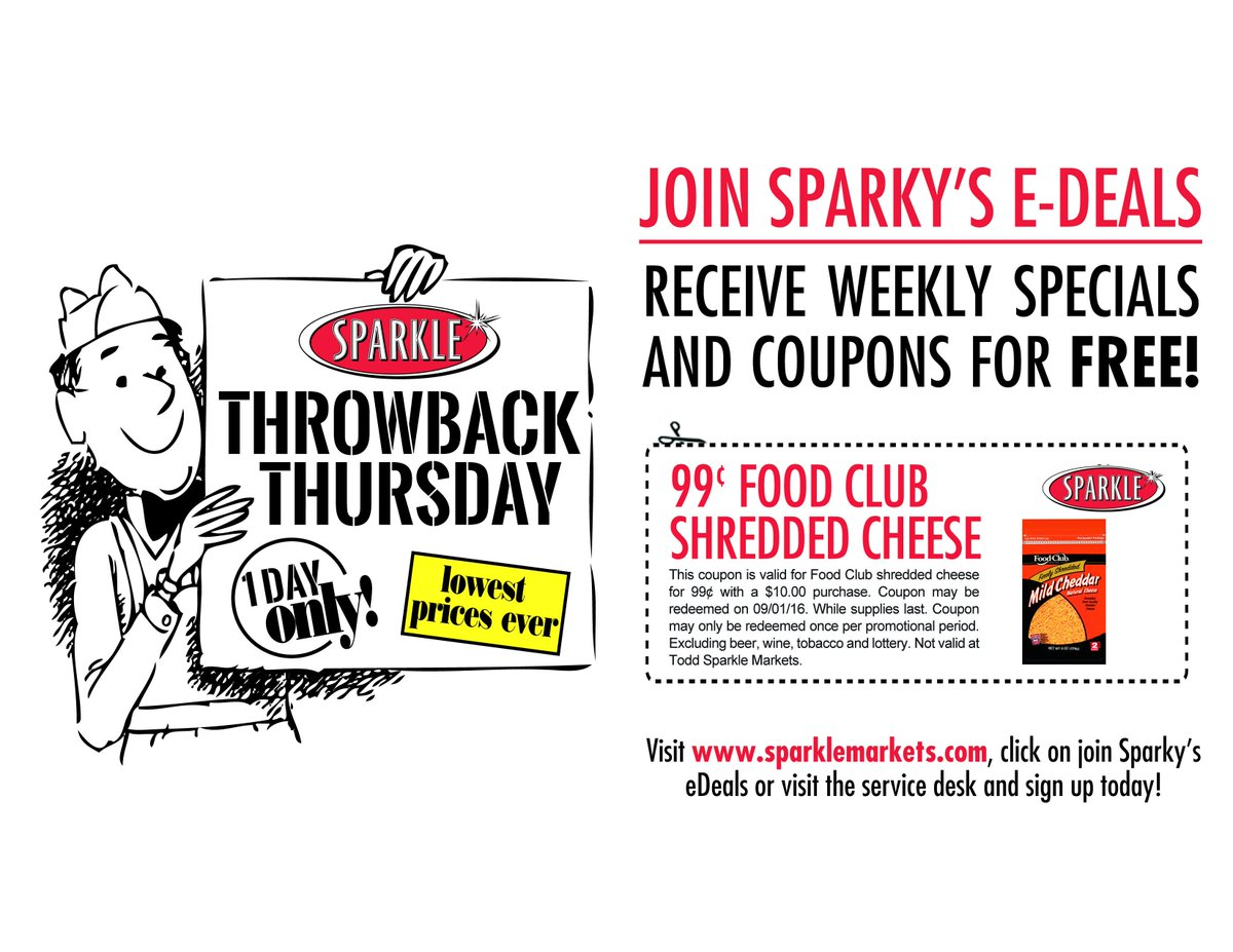 Sparkle Markets On Twitter Its ThrowbackThursday Food Club