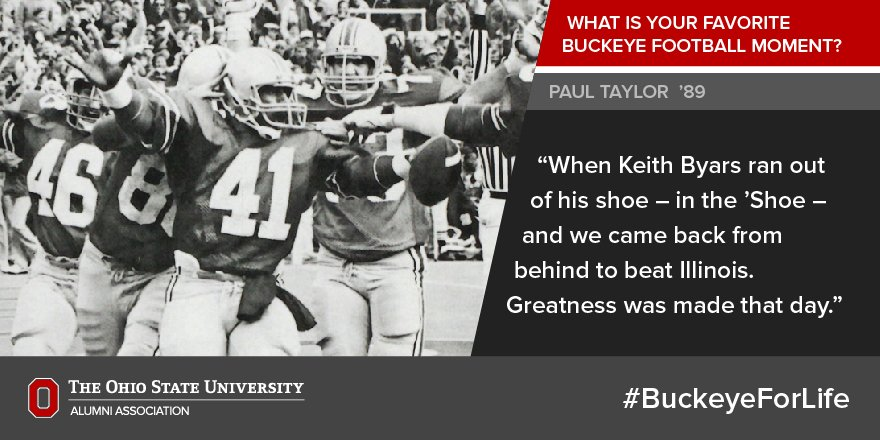 """When Keith Byars ran out of his shoe... Greatness was made that day."" -Paul Taylor '89. photo via @DispatchAlerts https://t.co/EkhisRunhM"