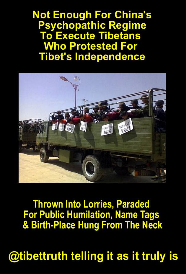 It's not enough for the Chinese regime that it jails, tortures & kills #Tibetans they're also humiliated. #Tibet https://t.co/fMp6WajJtc
