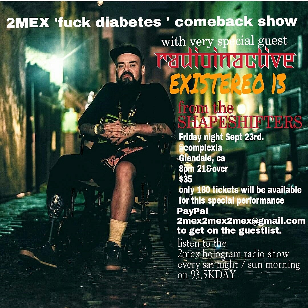 2mex comeback show SEPT 23rd. @ComplexLA  only 180 tickets available https://t.co/4MTyAXU6No