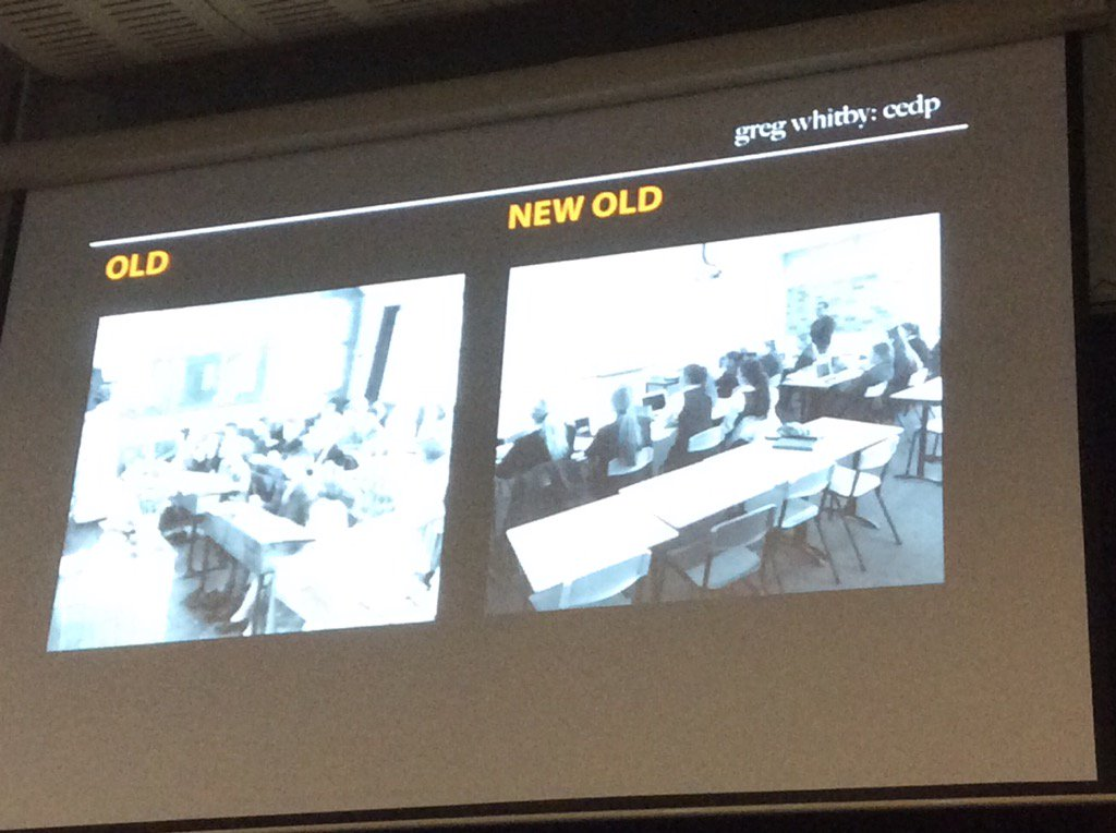 @gregwhitby: learning spaces - the old & the new old. What's changed? Redesign doesn't change learning. #sybaffs https://t.co/tk8kY7ndnG