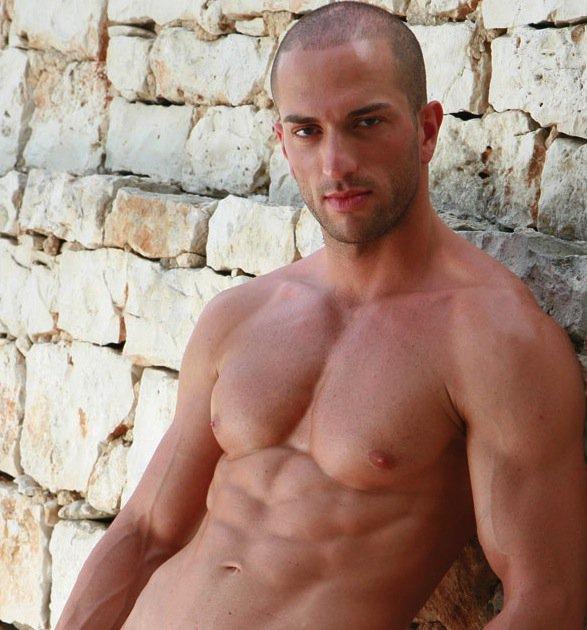 Gay Italian Hunk Jordan Santelli Fucks His Tight Hairy Hole