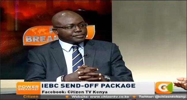 Kimosop price democracy IEBC commissioners send package