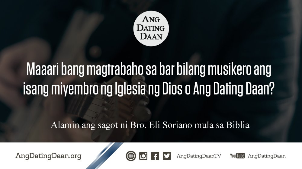 ang dating daan internet radio Ang dating daan 265k likes ang dating daan is a tagalog religious program, featuring the live question-and-answer segment with bro eli soriano.