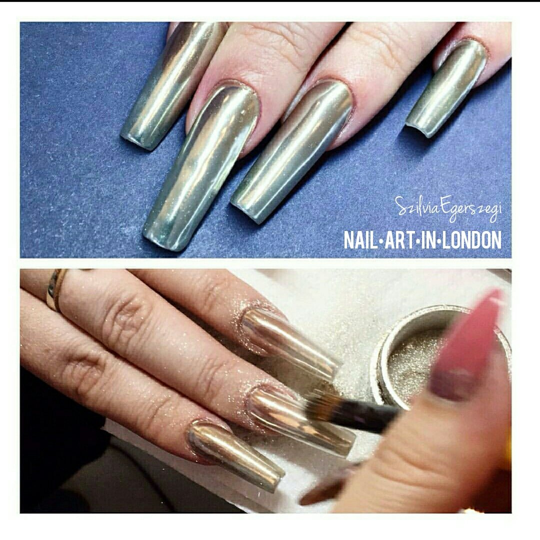 Nail Art In London On Twitter Stunning Chrome Nails Nailart