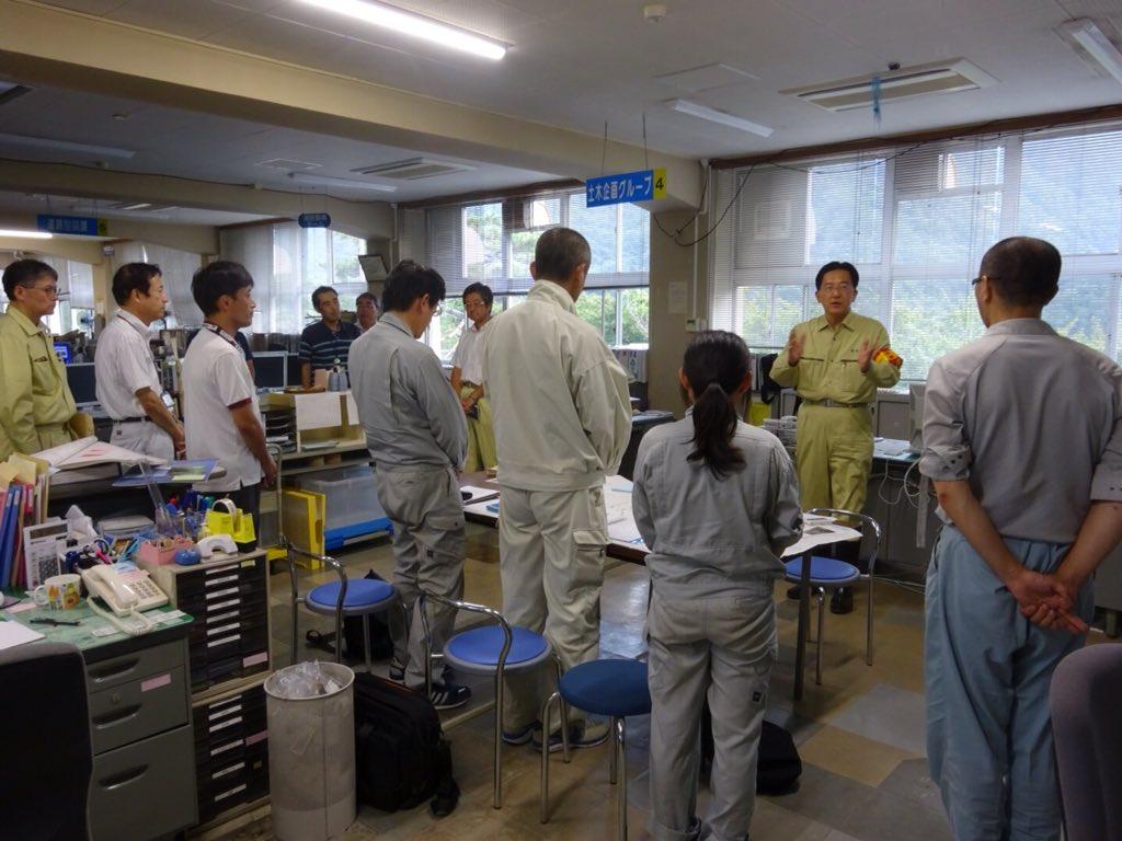 岩泉町役場の向かいにある県の合同庁舎を激励。ここは県の土木センターとなっていて、台風10号災害復旧に努めていますが、さらに岩手県現地災害対策本部を設置し、県の体制を強化します。