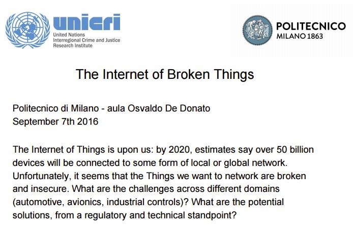 Calendario Politecnico Milano.Marco Brambilla On Twitter The Internet Of Broken Things