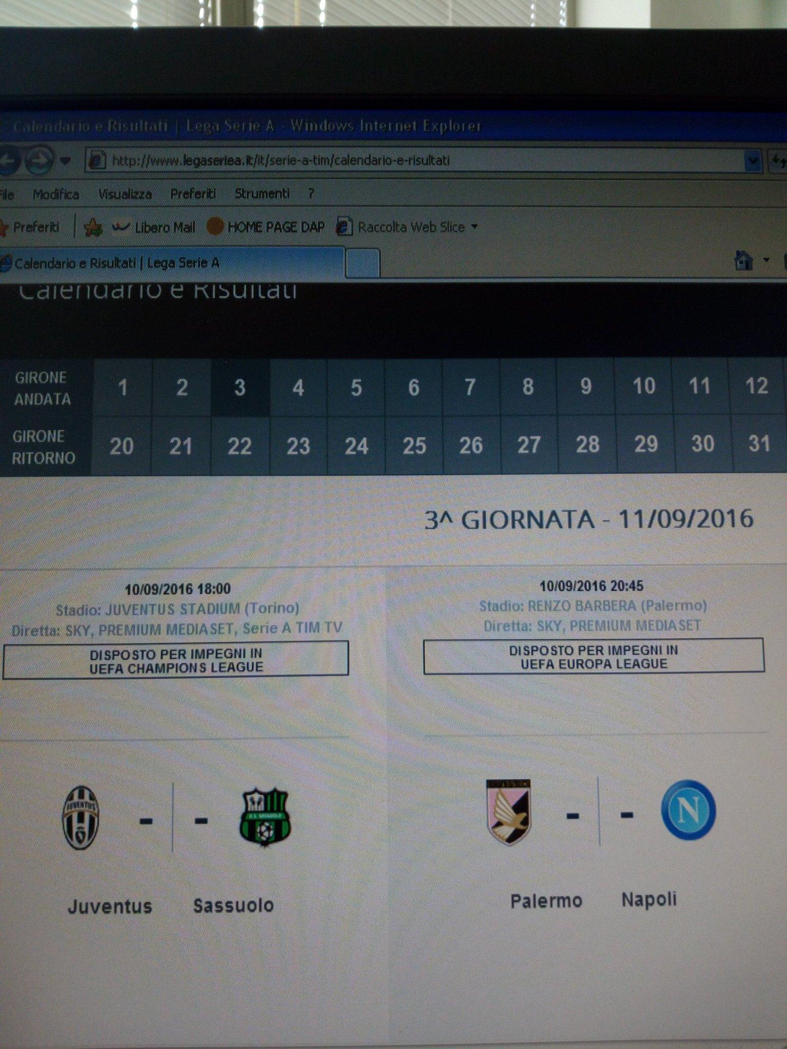 Serie A Tim Calendario E Risultati.Massimo Sorrentino On Twitter Skysport Per Il Sito