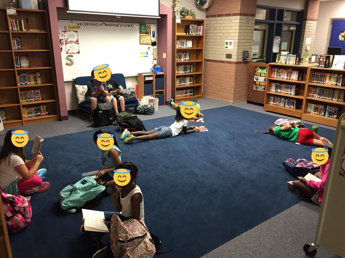 Our new Friday morning silent reading time is a success! @Dorsey_Wildcats