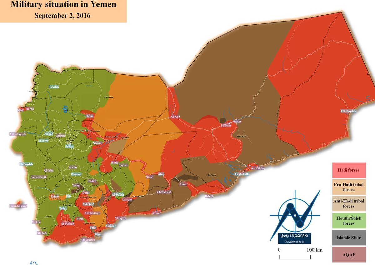 Artur Rosiński On Twitter NewsMap Yemen War Map September - Yemen map png