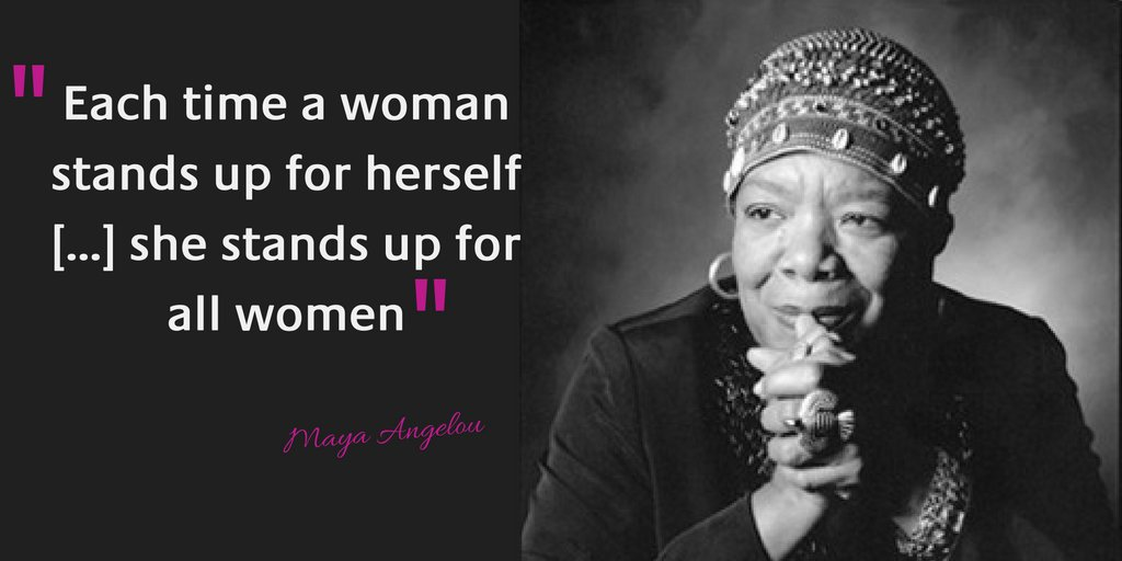 Each time a woman stands up 4 herself […] she stands up for all women – M. Angelou #genderequality #WomensLeadership https://t.co/g5YBEpDB2e