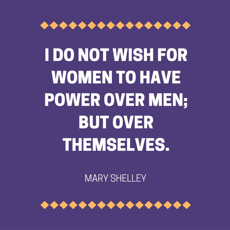 #FeministFriday from Mary Shelley, author of Frankenstein and daughter of early #feminist Mary Woolstonecraft. https://t.co/oUpPelRYlo