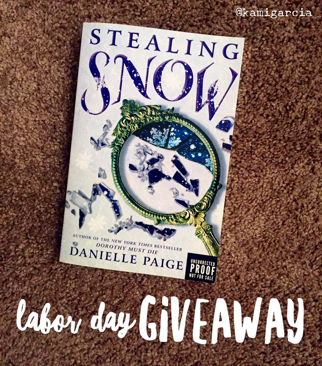 Labor Day #Giveaway! Follow + RT to enter to win #StealingSnow by @daniellempaige - a book I blurbed! https://t.co/gb1YKZwezw