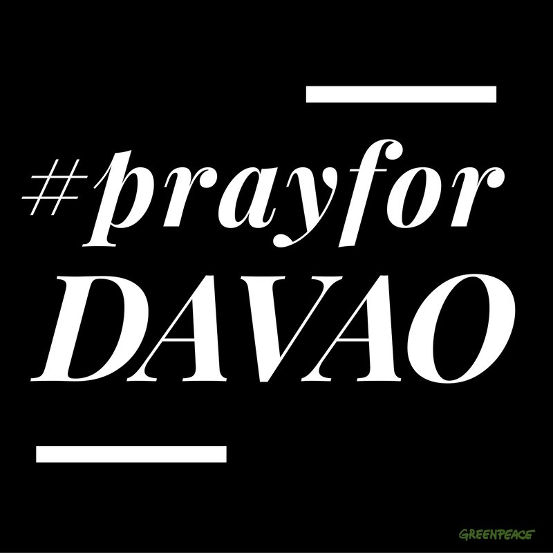 Our thoughts and prayers for all our brothers and sisters in Davao. Hope you are all safe! #prayforDavao https://t.co/wGlE04Ayzl