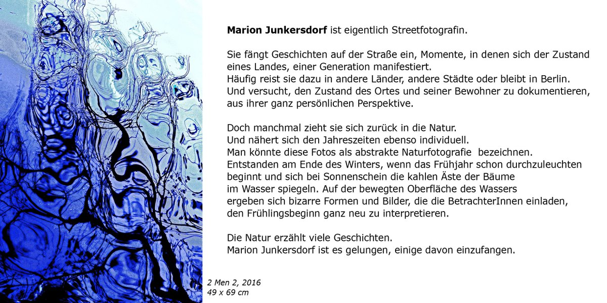 Marion Junkersdorf On Twitter Vernissage In The Blue With You