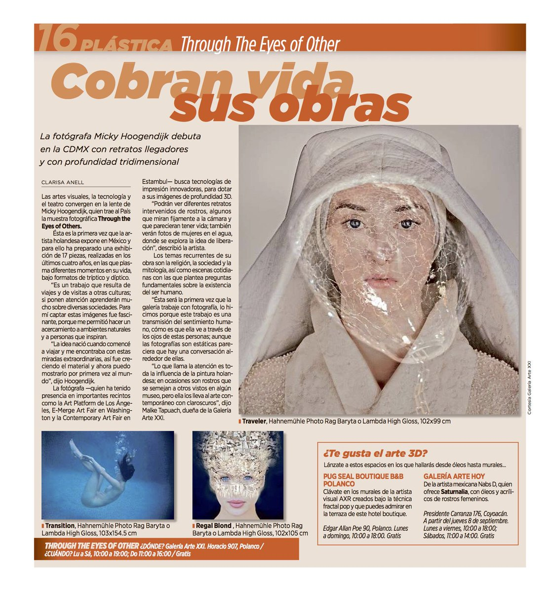 """Great article about """"Through The Eyes Of Others"""" @GaleriaArteXXI @NLinMexico in @Reforma . Gracias!!! https://t.co/M4T6ZLbnTh"""