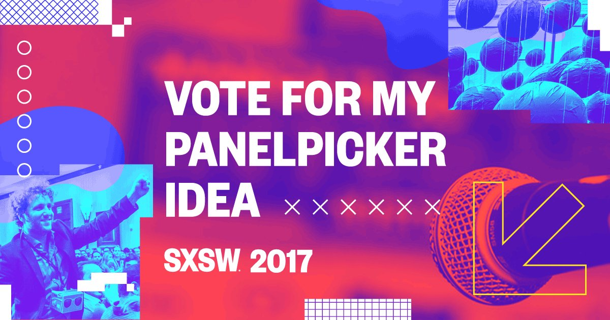 I would appreciate support to talk open source cities at #SxSW - vote today: https://t.co/O2pOizSogE https://t.co/oHPHjR9UMf