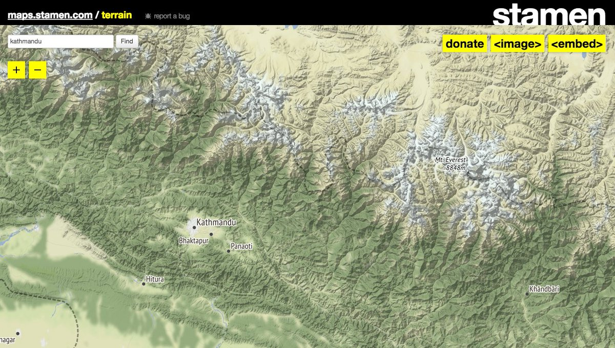 Stamen Design On Twitter We Just Tweaked Hillshade Styling For Our - Map-of-us-terrain