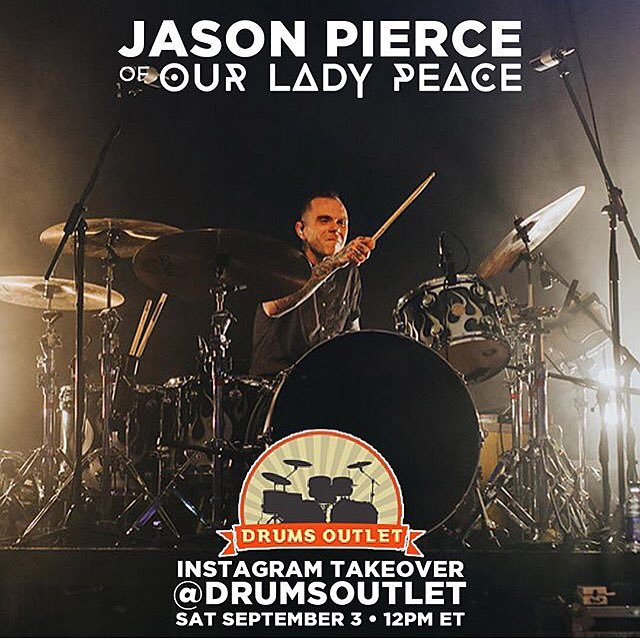 Stoked to be taking over the @drumsoutlet Instagram tomorrow at 12pm ET. @OurLadyPeace https://t.co/Y3rlkjIHP1