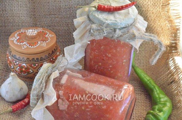 Хреновая закуска из помидор с хреном и чесноком на зиму рецепты с фото