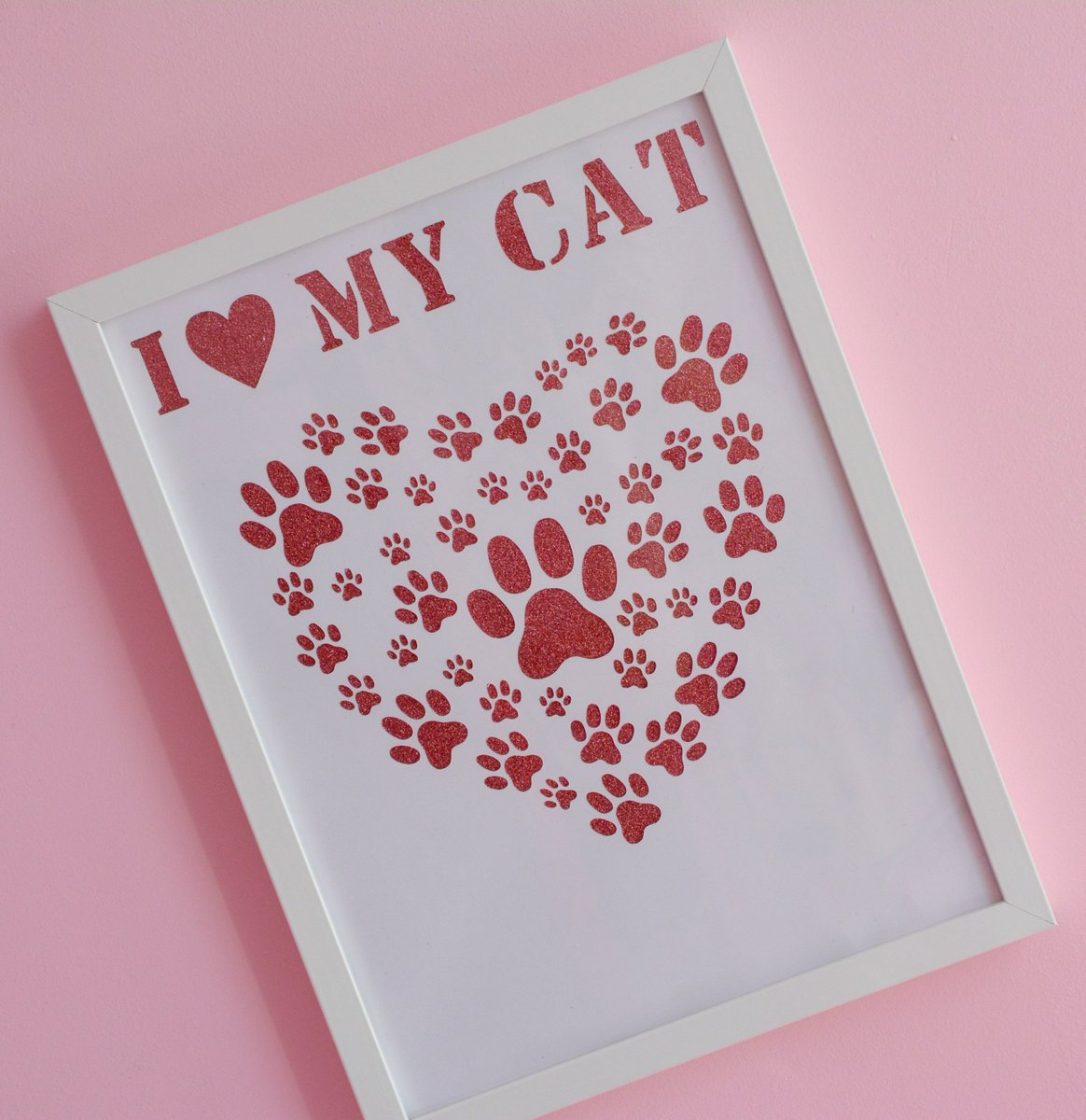 Butterfly Creations On Twitter I Love My Cat Frame Frame