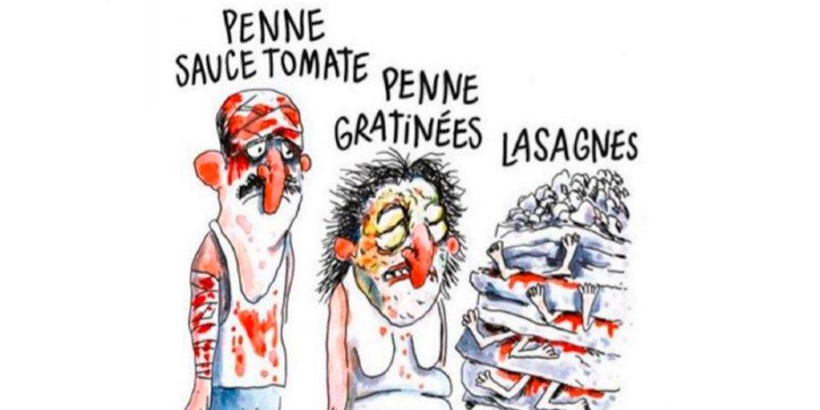 Charlie Hebdo e la vignetta di cattivo gusto sul Terremoto in Italia