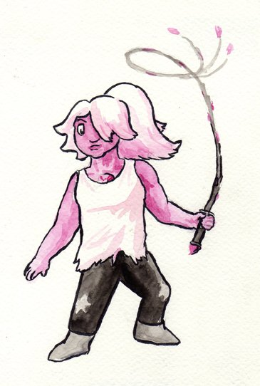 """#FanArtFriday quick watercolor of Amethyst from Steven Universe."""