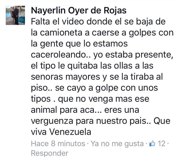 Thumbnail for Aseguran que Maduro agredió a señora que lo caceroleaba en Villa Rosa, Margarita