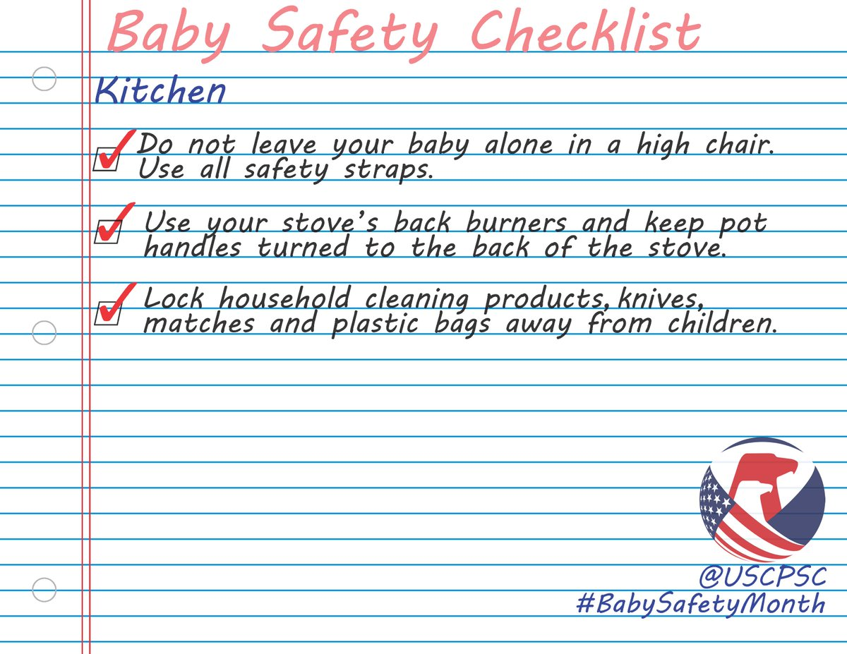 Us Consumer Product Safety Commission On Twitter Kitchen Etiquette Goes Beyond Eating Make Sure Your Baby Is Safe Too Babysafetymonth