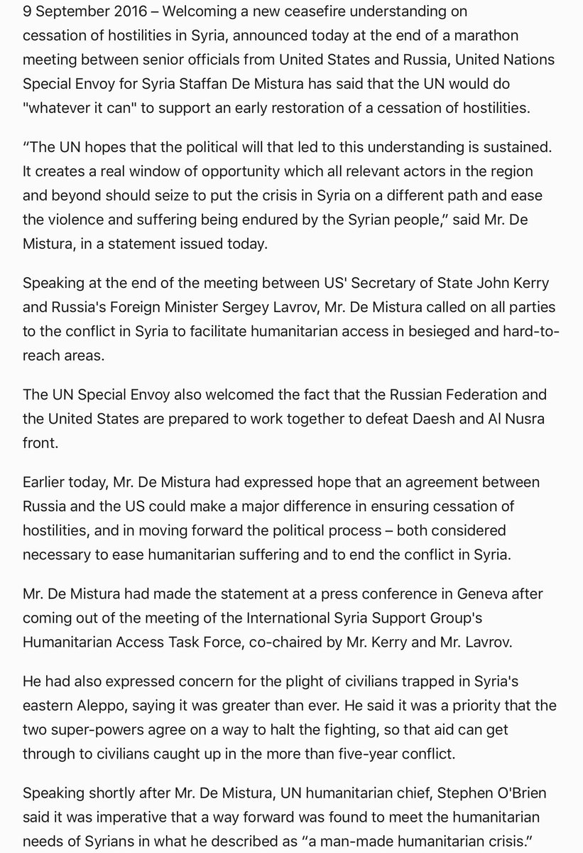 Karel Van Oosterom On Twitter Un Welcomes Syria Agreement Usa