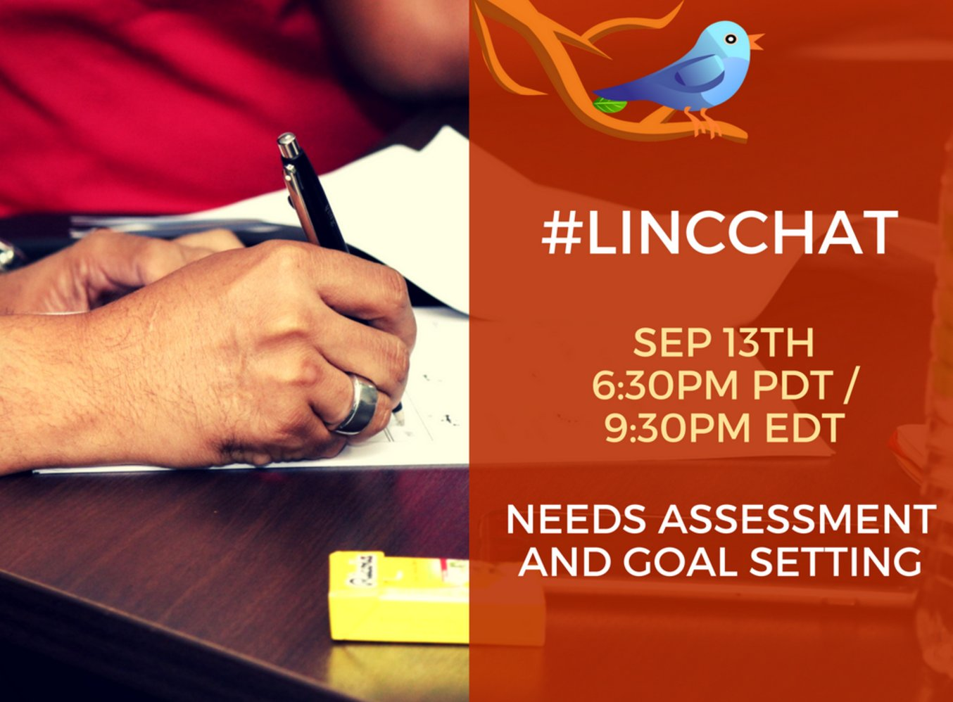 Join us Sept 13 to share & learn about Needs Assessment & Goal Setting ideas & practices #LINCchat #cdnesl #cdnelt https://t.co/gXSRnapKco