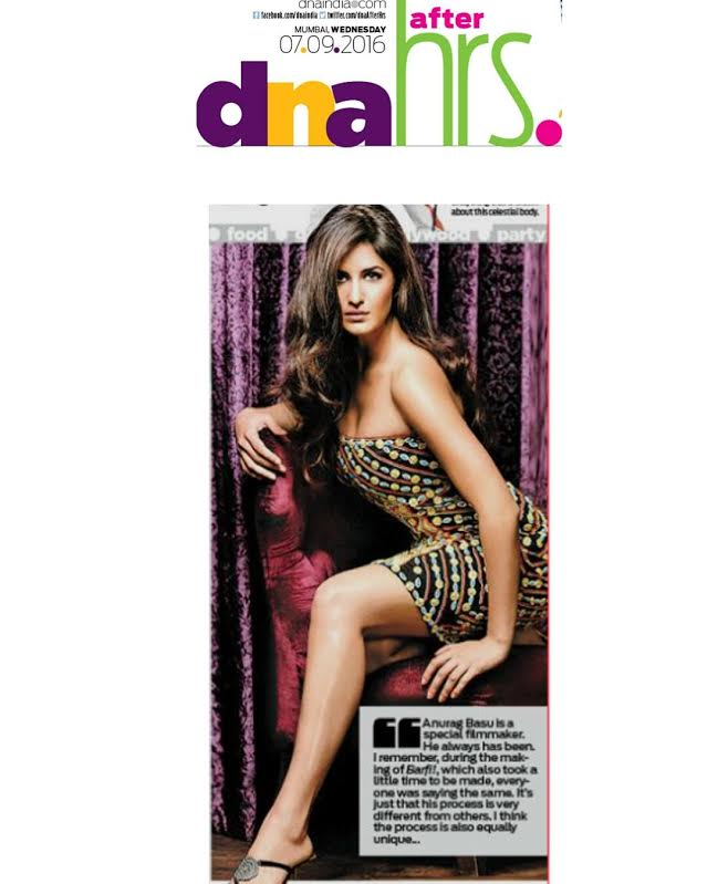 Baar Baar Dekho..Katrina looking stunning in a blast from the past ensemble by #seemakhan featured in DNA afterhours