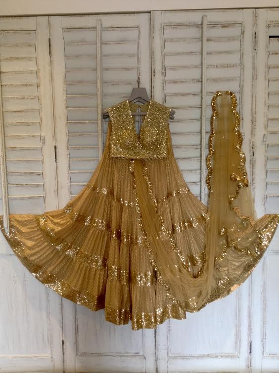 Shimmer in this lehenga saree, the latest addition to our Gold Collection #seemakhan #bandra190 #shopnow #lehenga