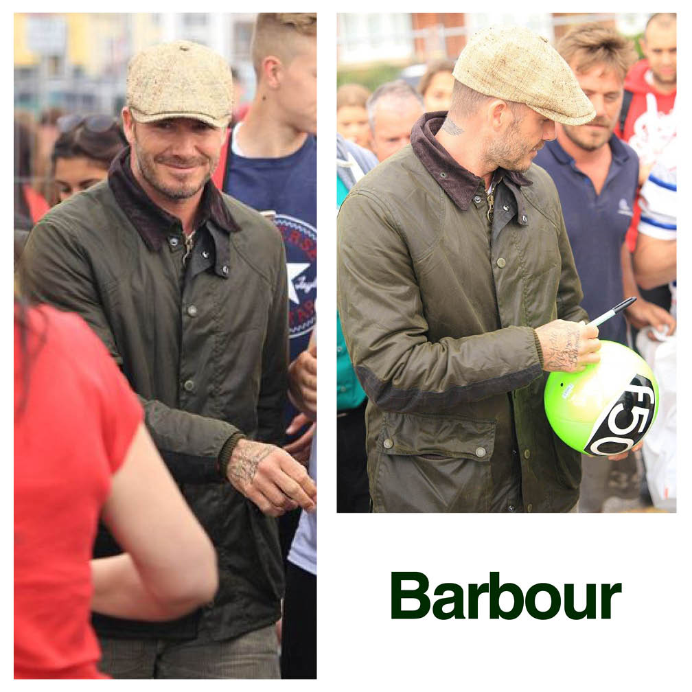 「Barbour david beckham」の画像検索結果