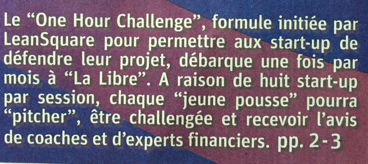 On parle #onehourchallenge dans la @lalibrebe ce matin ! #àlire avec @BobupB @Happylistme cc @mabanque_bnpp https://t.co/lA8PcWBpH2