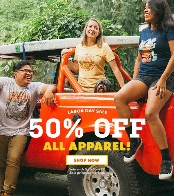 50% off apparel @Threadless until 9/6 5PM CT. : https://t.co/xX1hp6R9Nf https://t.co/RP1rSPbacV