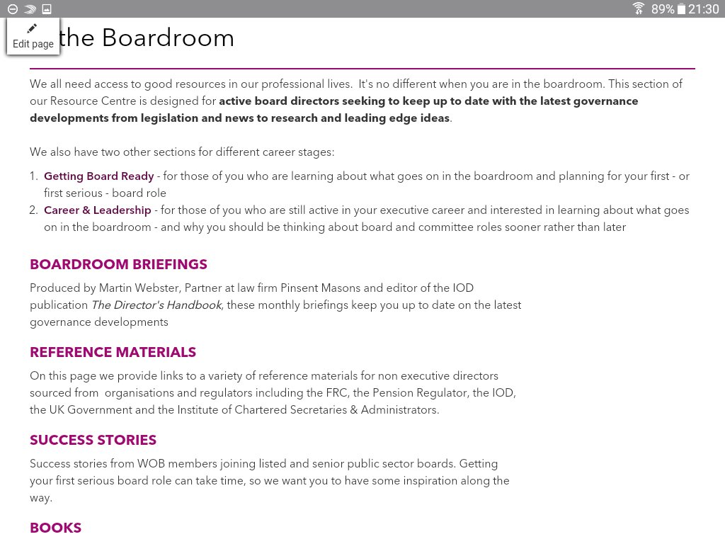 """wob uk on twitter: """"realising your board potential workshop"""
