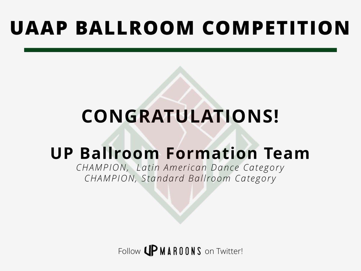 TWO CHAMPIONSHIPS TO START THE SEASON! Congratulations, UP Ballroom Formation Team! #UPFIGHT https://t.co/FpZwEBu1iV