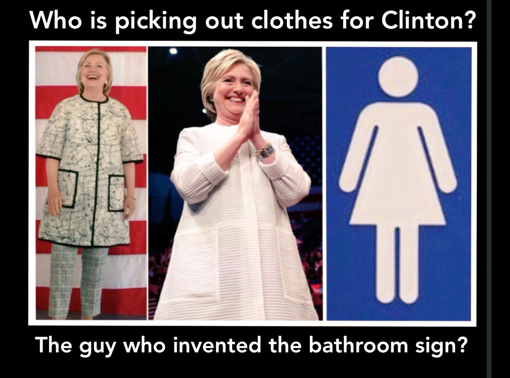 Oliver McGee PhD MBA on Twitter   Who is picking out clothes for  Clinton   The guy who invented the bathroom sign   ProudAmerican  FoxNation  CNN  NBC. Oliver McGee PhD MBA on Twitter   Who is picking out clothes for