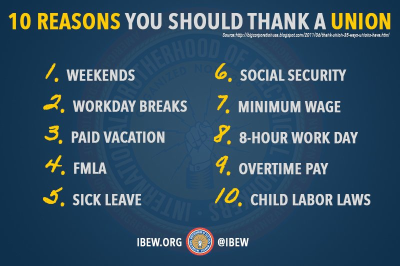 This #LaborDay, 10 reasons you should thank a union #1u https://t.co/1XSa9scjWC
