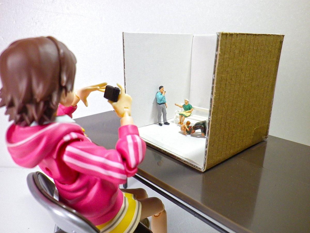 鉄道模型とかのジオラマ用フィギュアはそのままfigmaとかの小物として使えないかなーという試み pic.twitter.com/YY0Yf9Q4uQ