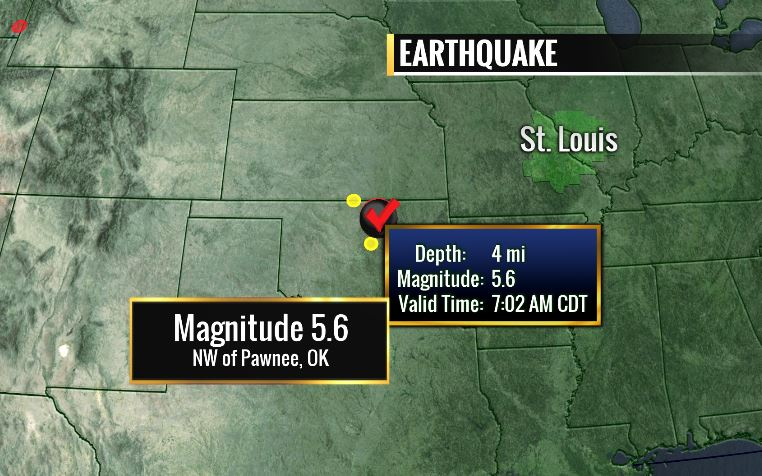 Magnitude 5.6 earthquake rattles Midwest just after 7am this morning. Many in STL felt shaking. @FOX2now https://t.co/uzqfeVqhHY