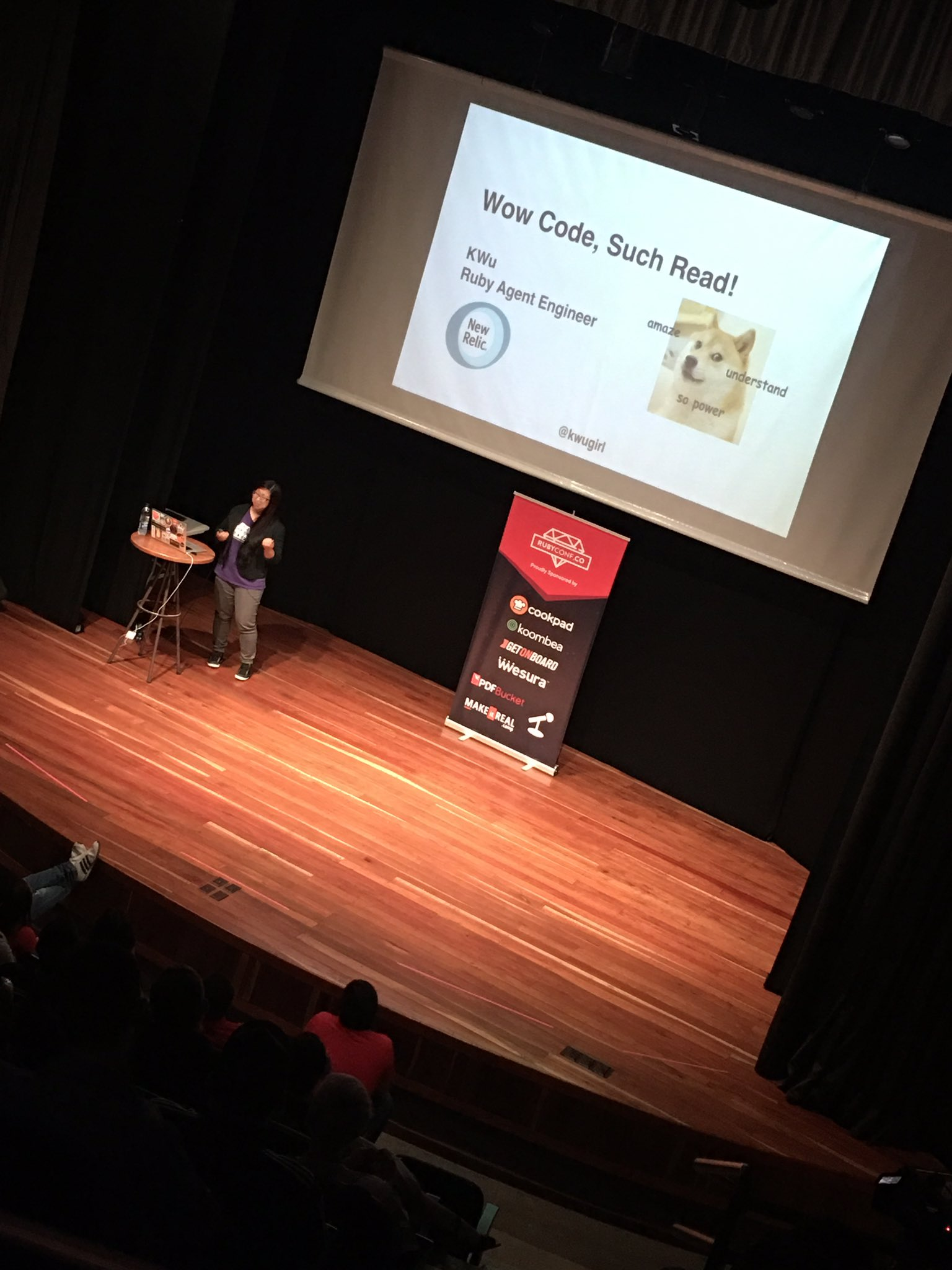 Thanks to @kwugirl for the great tricks to read code at @RubyConfCo #RubyConfCo 2016 #Medellin #Colombia https://t.co/HLb5ciyIt7