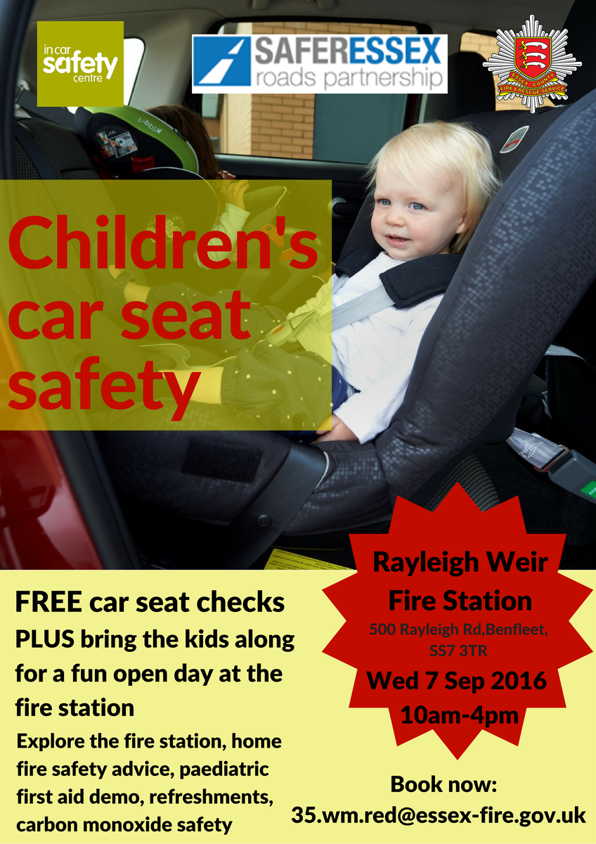 Essex Fire Service On Twitter Station Open Day And FREE Childrens Car Seat Checks At Rayleigh Weir