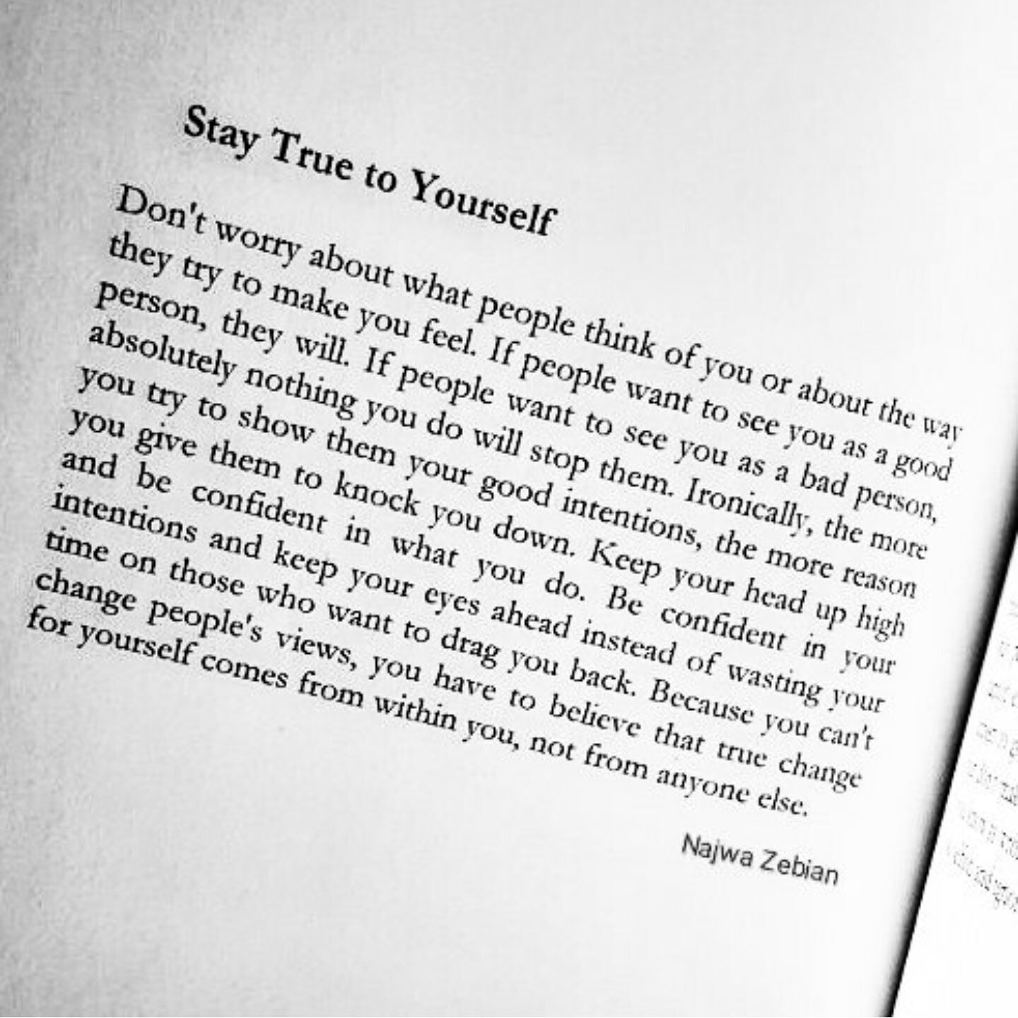 Najwa Zebian On Twitter Stay True To Yourself Mindplatter