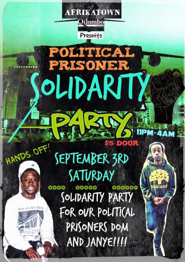 Political Prisoner Solidarity Party @ Qilombo | Oakland | California | United States