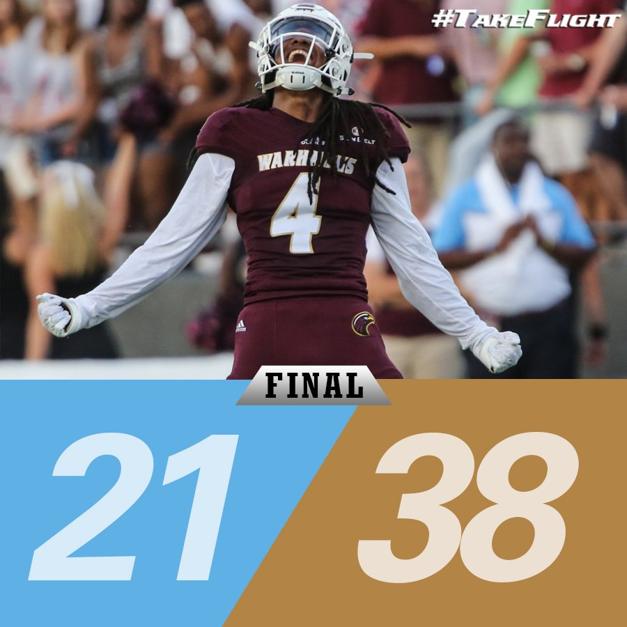 Put it in the books! Warhawks open 2016 with a victory over Southern - ULM is only La. FBS team to win this weekend! https://t.co/Kl3ArxhckC