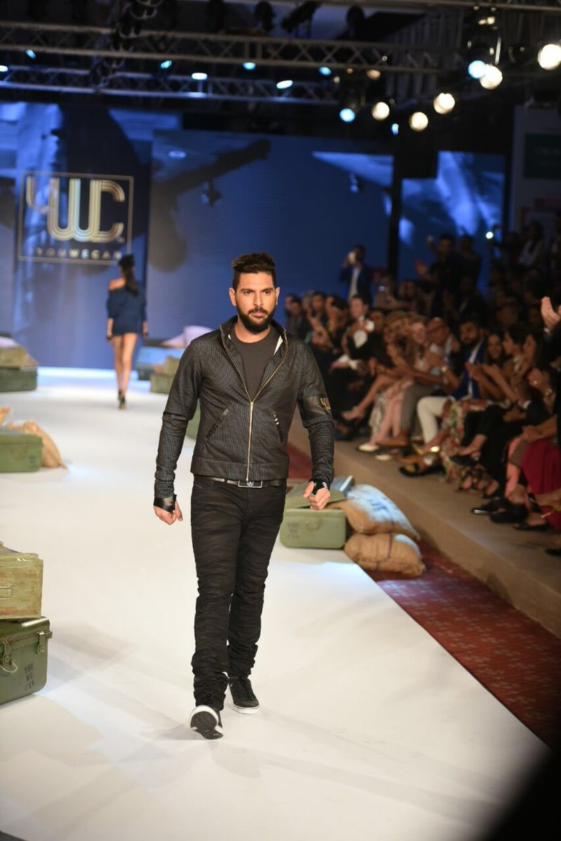Our inspiration for The Gold collection, the man of the hour @YUVSTRONG12 ! @YWCFashion #DoItAgain #LiveDareInspire https://t.co/ZxlKzdqGQy