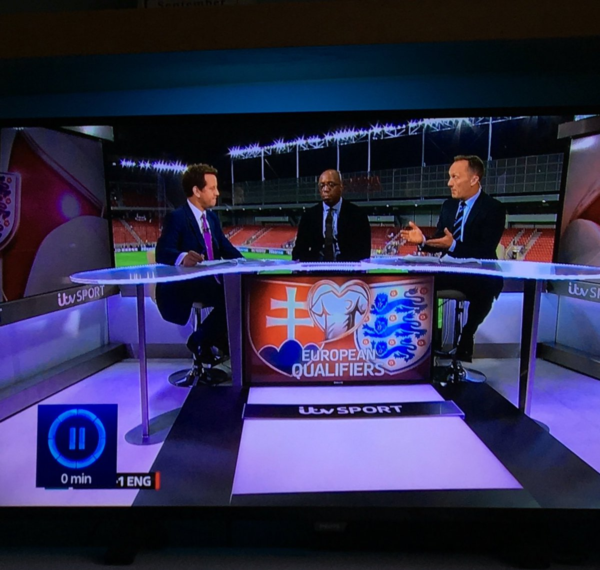 European Qualifiers written on the desk... Are these not the #WorldCupQualifiers @ITV ? #England https://t.co/c3CnNodwBt